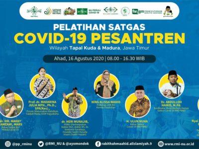RMI PBNU Selenggarakan Pelatihan Satgas Covid-19 Pesantren untuk Wilayah Tapal Kuda dan Madura, Jawa Timur