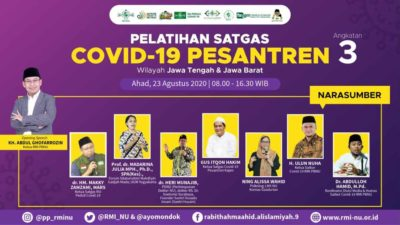 Jateng dan Jabar Ikuti Pelatihan Satgas Covid-19 Pesantren