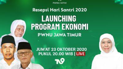 Gandeng Bank Indonesia hingga Perusahaan Ice Cream, PWNU Jatim Luncurkan Program Ekonomi di Resepsi Hari Santri 2020