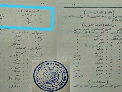 Refleksi Susunan Pengurus Besar Nahdlatul Ulama 1926