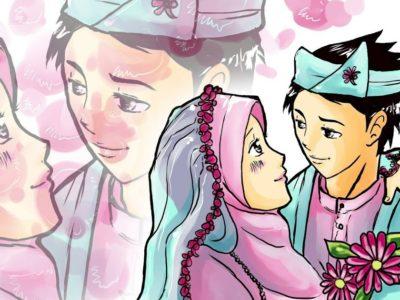 kartun pernikahan