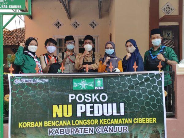 Longsor Cibeber, PCNU Cianjur Salurkan Bantuan