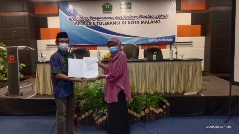 Workshop Penyusunan Kurikulum Muatan Lokal Berbasis Toleransi Di Kota Malang Oleh PC NU Kota Malang Dan Dinas Pendidikan Kota Malang