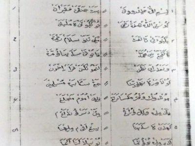 """Manuskrip Nazhoman """"Partai NU"""" Berbahasa Sunda Pegon dari Keresek (Garut)"""